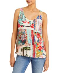 Johnny Was Orla Printed Tank Top - Blue