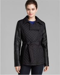 DKNY - Trench - Niki Asymmetric Quilted - Lyst