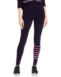 Sundry Striped Yoga Leggings - Blue