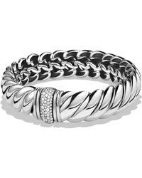 David Yurman - Hampton Cable Bracelet With Diamonds - Lyst