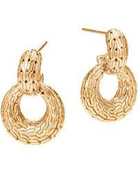 John Hardy | 18k Yellow Gold Classic Chain Drop Earrings | Lyst