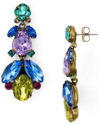 Sorrelli Pine Drop Earrings - Blue