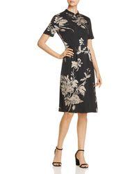 Donna Karan - New York Floral-print Dress - Lyst