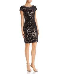 Eliza J - Sequined Velvet Dress - Lyst