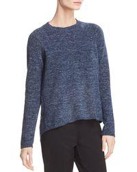 Eileen Fisher - Marled Organic Cotton Sweater - Lyst