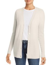 C By Bloomingdale's Cashmere Grandfather Cardigan - White