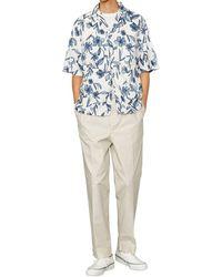 Officine Generale Floral Camp Shirt - Blue