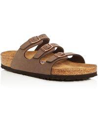 cc3dd8c68a0 Lyst - Birkenstock Flat Gladiator Sandals Chania in Brown
