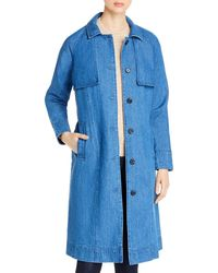Vero Moda Mina Denim Trench Coat - Blue