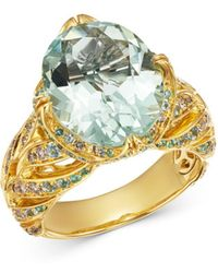John Hardy 18k Gold Cinta Surakarta One - Of - A - Kind Ring With Diamonds & Gemstones - Metallic