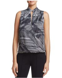 Kenneth Cole | Printed Crossover Top | Lyst