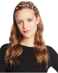 Aqua Twist Leopard Print Headband - Natural