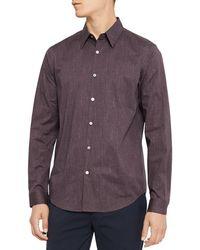Theory - Irving Pixel Print Regular Fit Shirt - Lyst