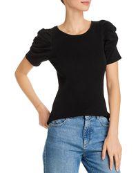 Aqua Puff - Sleeve Top - Black