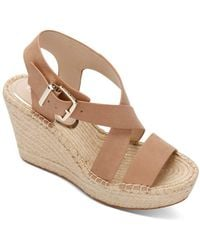 Kenneth Cole Olivia Cross Wedge Sandals - Natural