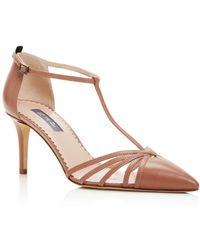 SJP by Sarah Jessica Parker Carrie T Strap Pointed Toe Court Shoes - Multicolour