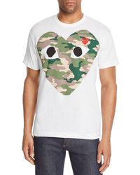 Play Comme des Garçons - Camouflage Heart Graphic Tee - Lyst