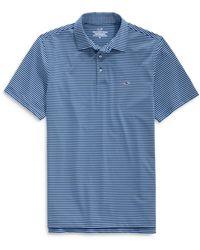 Vineyard Vines Bradley Striped Sankaty Polo Shirt - Blue