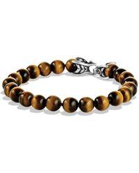 David Yurman - Spiritual Beads Bracelet With Tiger's Eye - Lyst