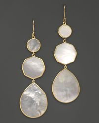 Ippolita - 18k Gold Polished Rock Candy Crazy 8's Earrings In Mother - Of - Pearl - Lyst