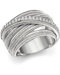 Judith Ripka - Multi Band Mercer Wrap Ring With White Sapphire - Lyst