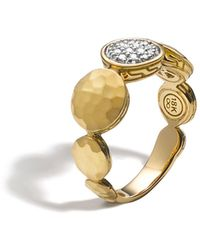 John Hardy - Palu 18k Gold Diamond Pavé Ring - Lyst