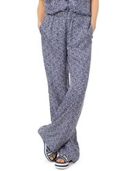 MICHAEL Michael Kors Printed Silk Pyjama Trousers - Blue