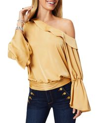 Ramy Brook Sammy Ruffled One Shoulder Blouse - Multicolour