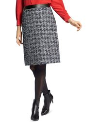 Basler Tweed Pencil Skirt - Black