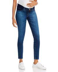 J Brand Mama J Mid - Rise Maternity Skinny Jeans In Arcade - Blue