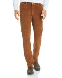Michael Kors Parker Stretch Slim Fit Corduroy Pants - Brown