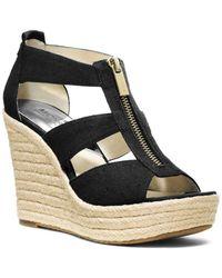 MICHAEL Michael Kors - Damita T Strap Espadrille Wedge Sandals - Lyst