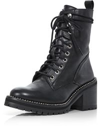 Aqua Women's Ray Lace Up Boots - Black