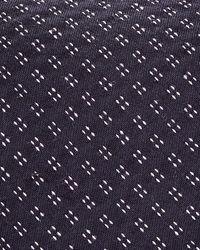 Theory Roadster Dash Grid Skinny Tie - Blue