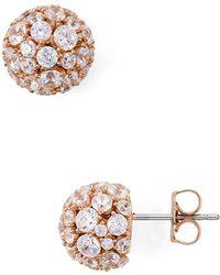 Nadri - Mare Pavé Ball Earrings - Lyst