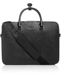 Michael Kors Henry Leather Briefcase - Black