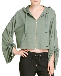 Donna Karan - New York Cinched-sleeve Zip Hoodie - Lyst