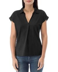 B Collection By Bobeau Rivka Collared Top - Black