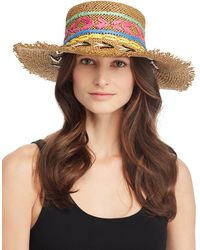 Echo Jubilee Embroidered Boater Hat - Multicolor