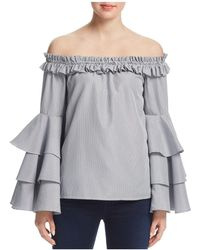 Aqua | Tiered Sleeve Off-the-shoulder Top | Lyst
