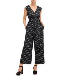 Kate Spade Cabana Dot Jumpsuit - Black