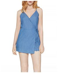 BCBGeneration Cotton Skort Romper - Blue