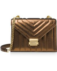 MICHAEL Michael Kors - Whitney Large Quilted Leather Shoulder Bag - Lyst