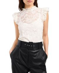 1.STATE - 1. State Lace Flutter Sleeve Blouse - Lyst