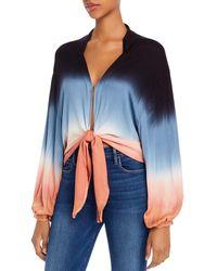 Young Fabulous & Broke Meia Dip - Dye Tie - Front Top - Blue