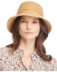 August Hat Company Bow Detail Cloche - Natural