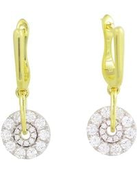 Frederic Sage - 18k White & Yellow Gold Spinning Diamond Cluster Earrings - Lyst