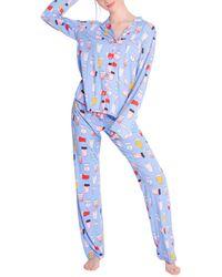 Pj Salvage Printed Pajama Set - Blue