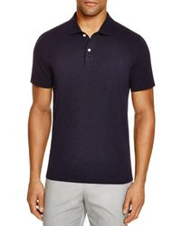 Bloomingdale's Slub Jersey Enzyme Wash Classic Fit Polo - Blue