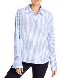 Aqua Striped Shirt - Blue